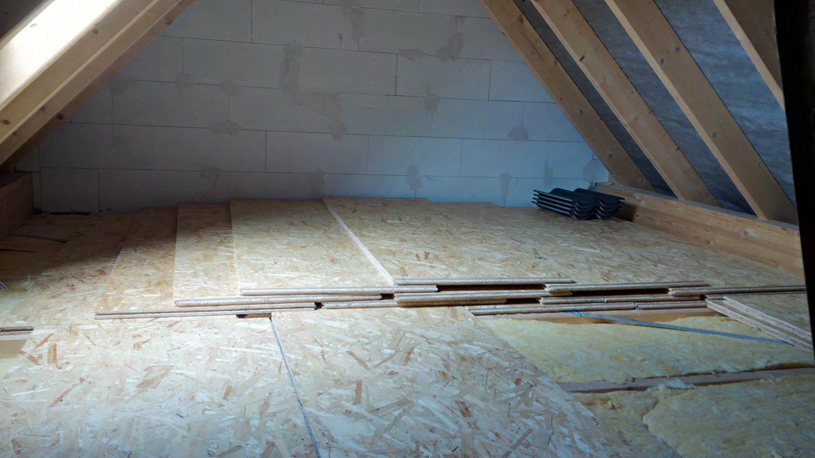 OSB Verlegeplatten ausgelegt   Baublog der Familie Schmetz